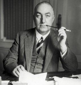 Edgar Wallace, 1875 - 1932, einer der erfolgreichsten englischsprachigen Kriminalautoren